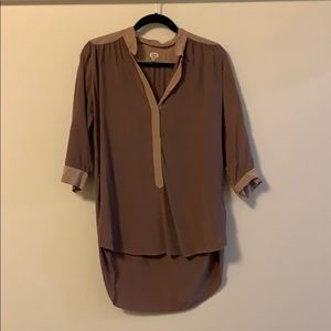 Silk 3/4 Sleeve Work Shirt